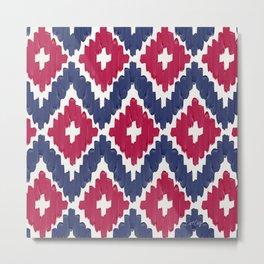 Textile Diamonds – Fuchsia Metal Print