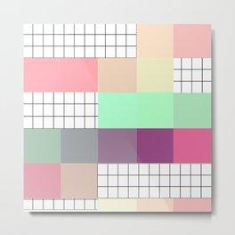 Pixels & Grids Metal Print