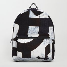 Abstract Calligraphy Backpack