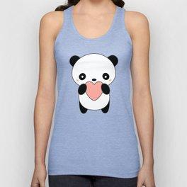 Kawaii Cute Panda Heart Unisex Tank Top