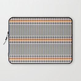 Geometric Stripes Seamless Vector Pattern Art Deco Laptop Sleeve