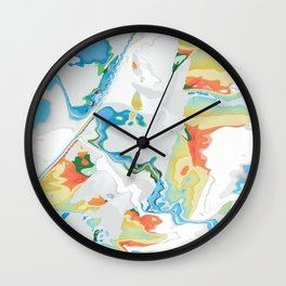 Eazy peazy painterly squeezy Wall Clock