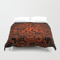 scary Duvet Covers featuring SCARY BAT by Acus