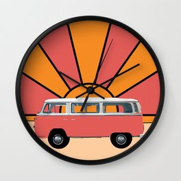 Go Your Own Way Van Wall Clock