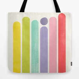Rainbow Color Stripes Tote Bag