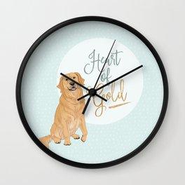 Heart of Gold // Golden Retriever Wall Clock