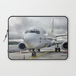 The plane at the airport on road Laptop Sleeve