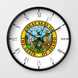Idaho State Seal Wall Clock