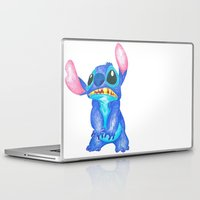 lilo and stitch Laptop & iPad Skins featuring Stitch by Kailan Harris (TheLonelyZero)