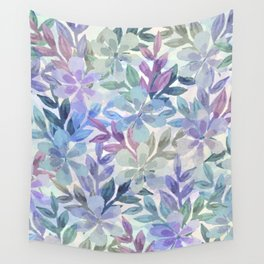 watercolor Botanical garden Wall Tapestry