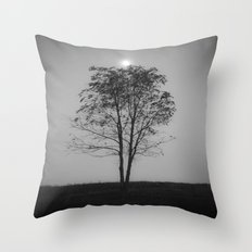 Moon over a tree Throw Pillow