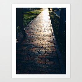 To The Western Promenade   Art Print