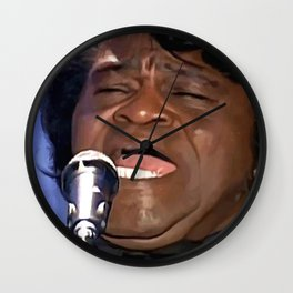 James Brown Portrait Wall Clock