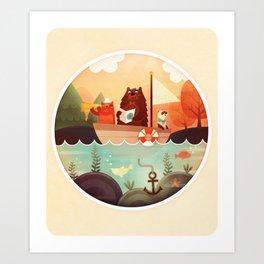 Les 3 Matelots Art Print