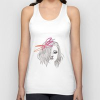 bow Tank Tops featuring Bow by spllinter