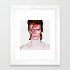 David Bowie Portrait Framed Art Print