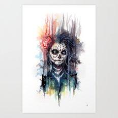 sugar skull - calavera de azucar Art Print