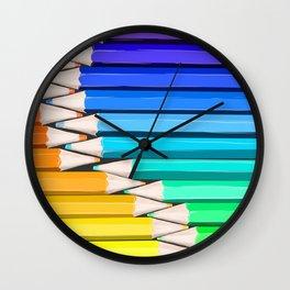 Rainbow of Creativity Wall Clock