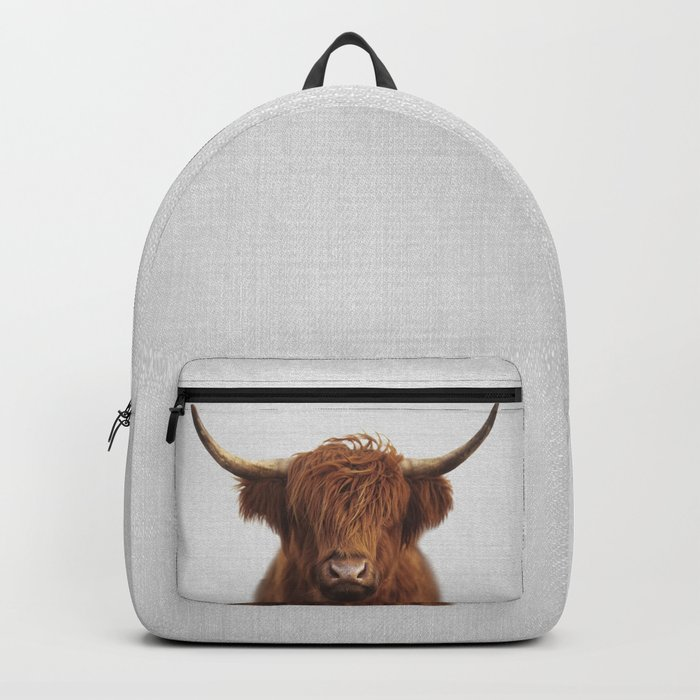 Highland Cow - Colorful Backpack