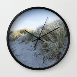 Winter at the Beach Wall Clock