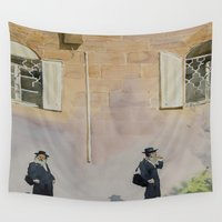 jewish Wall Tapestries featuring Jewish Quarter by Andrey Esionov