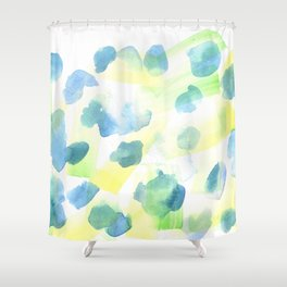 180527 Abstract Watercolour 14 | Watercolor Brush Strokes Shower Curtain