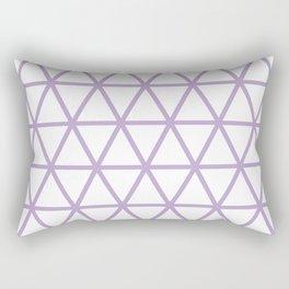 Lavender Triangle Pattern 2 Rectangular Pillow