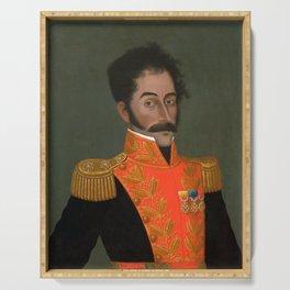 Simon Bolivar Painting - Jose Gil de Castro Serving Tray