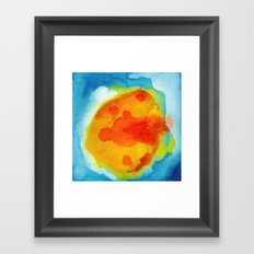 Sun Abstraction Framed Art Print