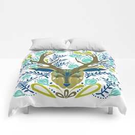 Floral Antlers – Earth Tones Palette Comforters