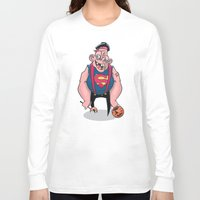 sloth Long Sleeve T-shirts featuring Sloth by Artistic Dyslexia