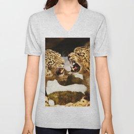 Snow Leopards Unisex V-Neck