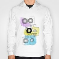 old school Hoodies featuring old school by Sara Eshak