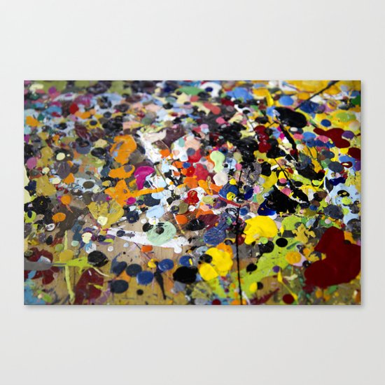 Palette. In the original sense of the word. Canvas Print