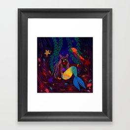 Tropical Mermadia Framed Art Print