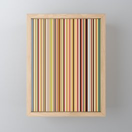 Old Skool Stripes Framed Mini Art Print