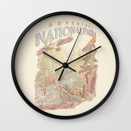 Adventure National Parks Wall Clock