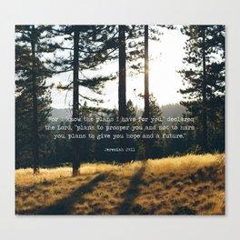 Golden Jeremiah 29:11 Canvas Print
