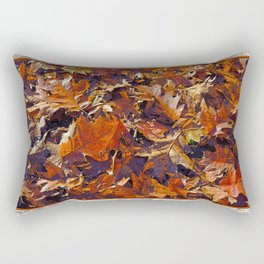 TWO BLADES OF GRASS AMONG OAK LEAVES Rectangular Pillow