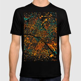 Paris mosaic map #3 T-shirt