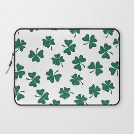 Retro Vintage St Patricks Day Green Shamrock Clover Laptop Sleeve