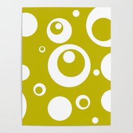 Circles Dots Bubbles :: Citron Poster