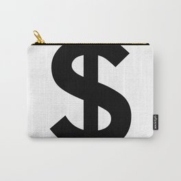Dollar Sign (Black & White) Carry-All Pouch
