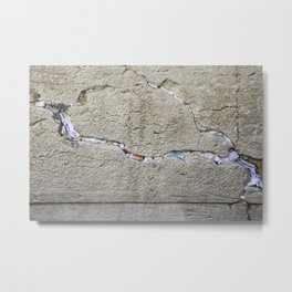 Jewish Kotel Wall Art Print - A stone of the Wailing Wall - Western Wall with many colored prayer paper notes between stones - Fine Art Print  Metal Print