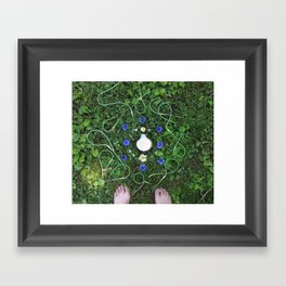 Garlic Scape Mandalla Framed Art Print