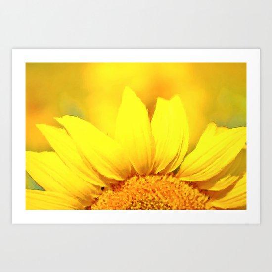 Sunflower love Flowers Flower Summer floral Art Print