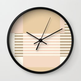 Marfa Abstract Geometric Print in Beige Wall Clock