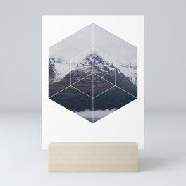 Snow Mountain - Geometric Photography Mini Art Print