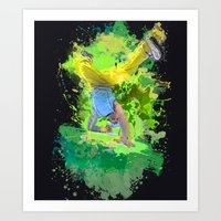 hiphop Art Prints featuring HipHop Forever by Frauste