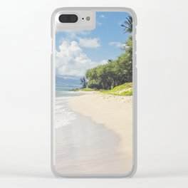 Kawililipoa Beach Kihei Maui Hawaii Clear iPhone Case